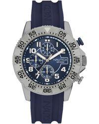 Nautica Orologio Analogico Quarzo Uomo con Cinturino in Silicone NAI16512G - Blu