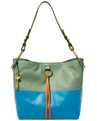 Fossil Bucket Bag In Multicolour Eco Leather For - Green