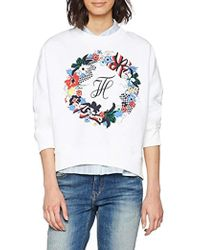Tommy Hilfiger Celsa Graphic HWK Ls Sweat-Shirt - Blanc