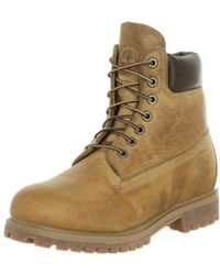 4370e2cf4634e7 Lyst - Timberland  heston Mid  Waterproof Plain Toe Boot in Brown ...