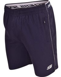 Skechers S Zip Pockets Shorts Swim Gym Fitness Beach Swimming Board Drawcord Mesh Lined Short Small - Blue