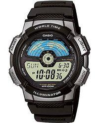 G-Shock Orologio Digitale Quarzo Uomo con Cinturino in Resina AE-1100W-1AVEF - Multicolore