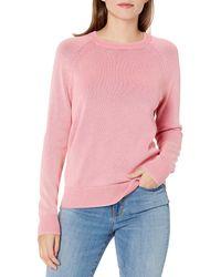 Goodthreads Mineral Wash Crewneck Sweatshirt Sweater Sweaters - Rosa