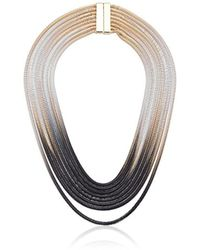 """Steve Madden - Ombre Snake Chain Necklace, 18"""" - Lyst"""
