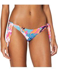 Seafolly Copacabana Tie Side Hipster Slip Bikini - Rosa