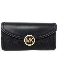 Michael Kors Fulton Large Flap Continental Wallet 35F9GFTE3L-001 - Nero