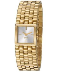 Esprit Lone Quartz Watch With Silver Dial Analogue Display And Gold Stainless Steel Bracelet Es106102003 - Metallic