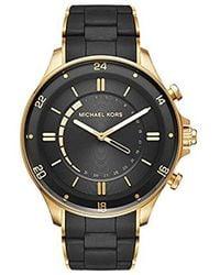 Michael Kors - Goldtone Reid Hybrid Watch - Lyst