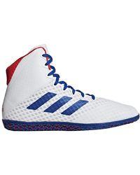 adidas Mat Wizard 4 Wrestling Shoes - Bleu