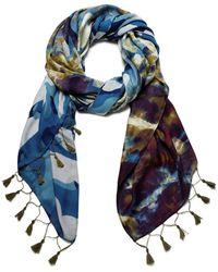 Desigual Foul Camu Fashion Scarf - Blue