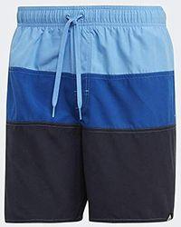 adidas Color Block Swim Shorts Bañador, Hombre - Azul