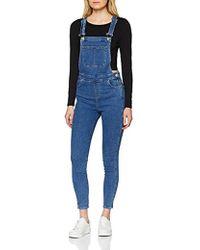 30142bedbd4 Miss Selfridge Premium Tailored Dungaree Jumpsuit in Black - Lyst