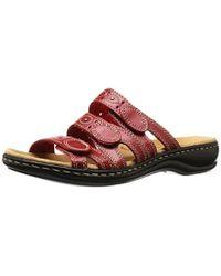 Clarks - Leisa Cacti Q (sage Leather) Women's Sandals - Lyst