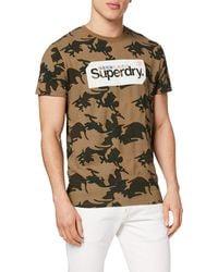 Superdry Core Logo Tag Camo All Over Print T-Shirt Army Camo XXXXL - Multicolore