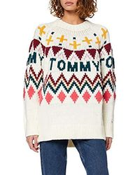Tommy Hilfiger Tjw Tommy Fairisle Jumper Sweatshirt - White