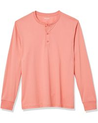 Goodthreads Cotton Long-Sleeve Henley Chemise - Rose