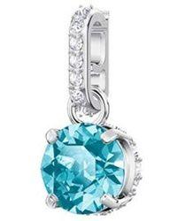 Swarovski Mujer Acero Inoxidable Charms con Cierre 5437316, Azul