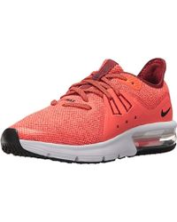 Nike Synthetic Air Max Sequent 3 (gs) Running Shoes in Red