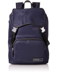Calvin Klein Primary Backpack W Flap - Azul