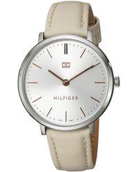 Tommy Hilfiger Analog Quarz Uhr mit Edelstahl Armband 1781742 - Mettallic