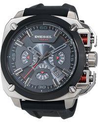 DIESEL Montre de Bracelet BAMF à Quartz analogique Silicone dz7356 - Noir