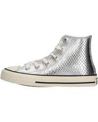 Converse Chuck Taylor All Star Metallic Snake Hi Argent Pur Textile 36 EU - Blanc