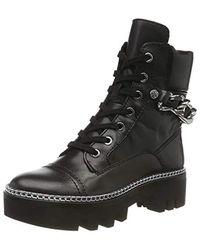 Guess Domain/stivaletto (bootie)/lea Combat Boots - Black