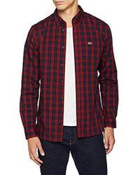 Lacoste Camisa para Hombre - Rojo
