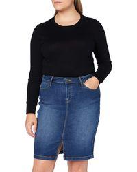 Lee Jeans Pencil Skirt Gonna - Blu