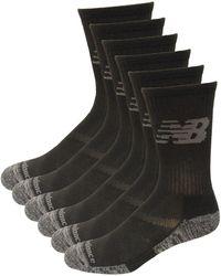 New Balance Performance Cushion Crew Socks - Schwarz