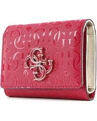 Guess Chic Shine SLG Small Trifold Berry - Rouge