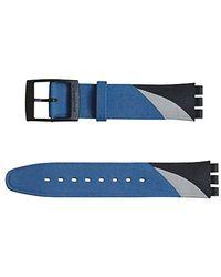 Swatch Original Armband 17mm Blue Squiggle ASDB118 - Blau