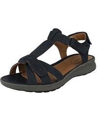 25721029a4e98 Ladies Unstructured Strappy Sandals Un Adorn Vibe - Blue
