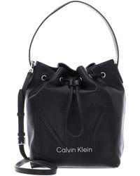 Calvin Klein Ny Shaped Drawstring Medium Black