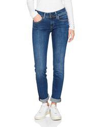 Pepe Jeans Damen New Brooke Jeans - Blau
