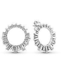 PANDORA Orecchini a perno Donna argento - 297545CZ - Metallizzato