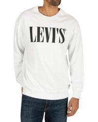 Levi's Relaxed Graphic Crewneck Sweat-Shirt - Blanc