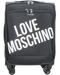 Love Moschino Valigia Trolley Con Logo Nero Jc5100pp1blu100a - Black