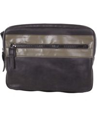 "DIESEL ""leather"" L-zippover Clutch S Bag - Black"