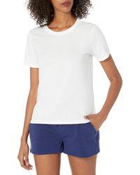 The Drop Charlotte T-shirt à col montant et manches courtes - Blanc