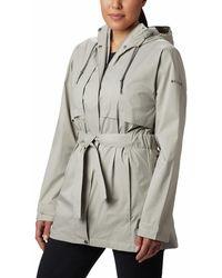 Columbia Pardon My Trench Waterproof Rain Jacket Raincoats - Grey