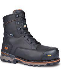 """Timberland PRO Boondock 8"""" Composite Toe Puncture Resistant Waterproof Industrial Boot - Noir"""