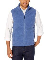 Amazon Essentials Sherpa Fleece Vest - Blue