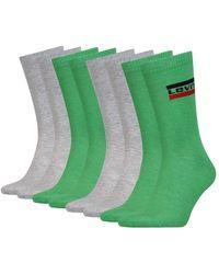 Levi's Tennissocken Strümpfe Sportswear Logo Socken 983041001 4 Paar - Grün
