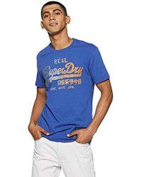 Superdry Camiseta de Tirantes para Hombre - Azul