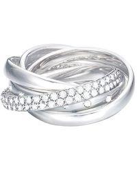 Esprit Ring JW50057 rhodiniert Zirkonia weiß Gr. 57 - Mettallic