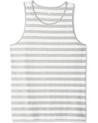 Amazon Essentials Slim-Fit Stripe Tank Top Novelty Tops - Bianco