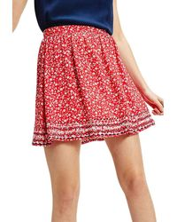 Tommy Hilfiger Tjw Embroidery Detail Skirt Rock - Rot