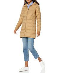 Amazon Essentials Teau léger et imperméable Down-Alternative-Outerwear-Coats - Bleu