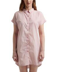 Esprit Candita Cas Nw Coo Nightshirt Nightgown - Pink